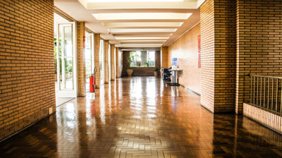 Look for the history of the building when searching for a commercial space