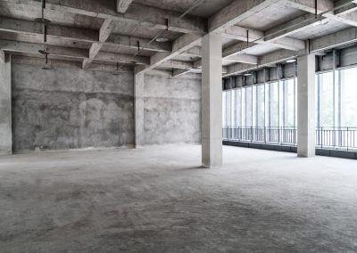 Empty building of an commercial construction projects